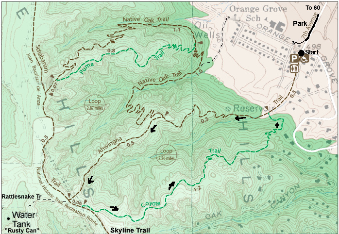 7th Ave trail map