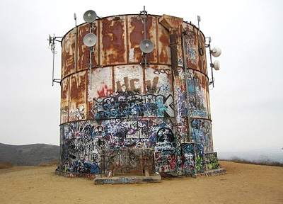rusted out water tank