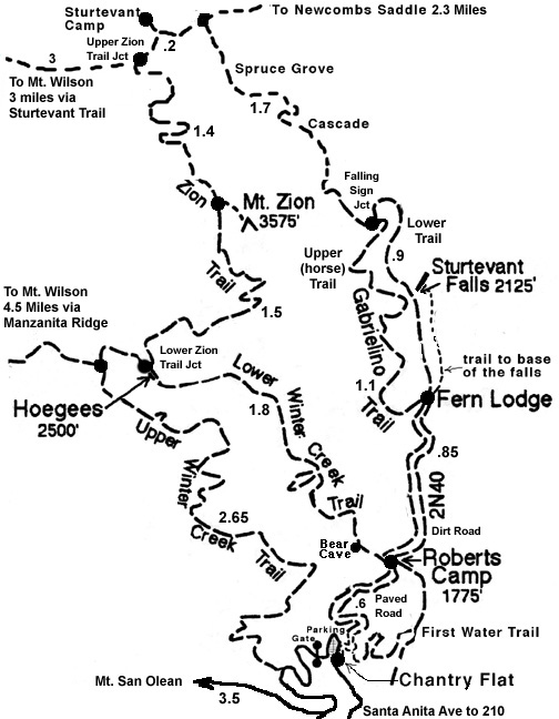 Zion loop trail map