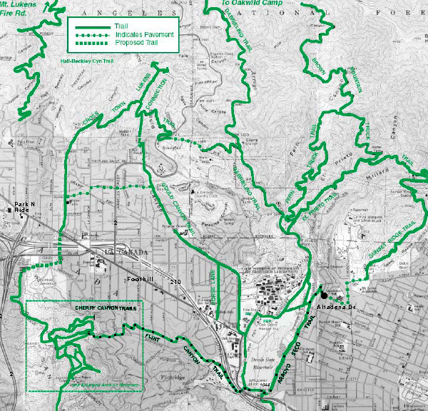 Warriors Path State Park Map: Flint And Cherry Canyon Trails