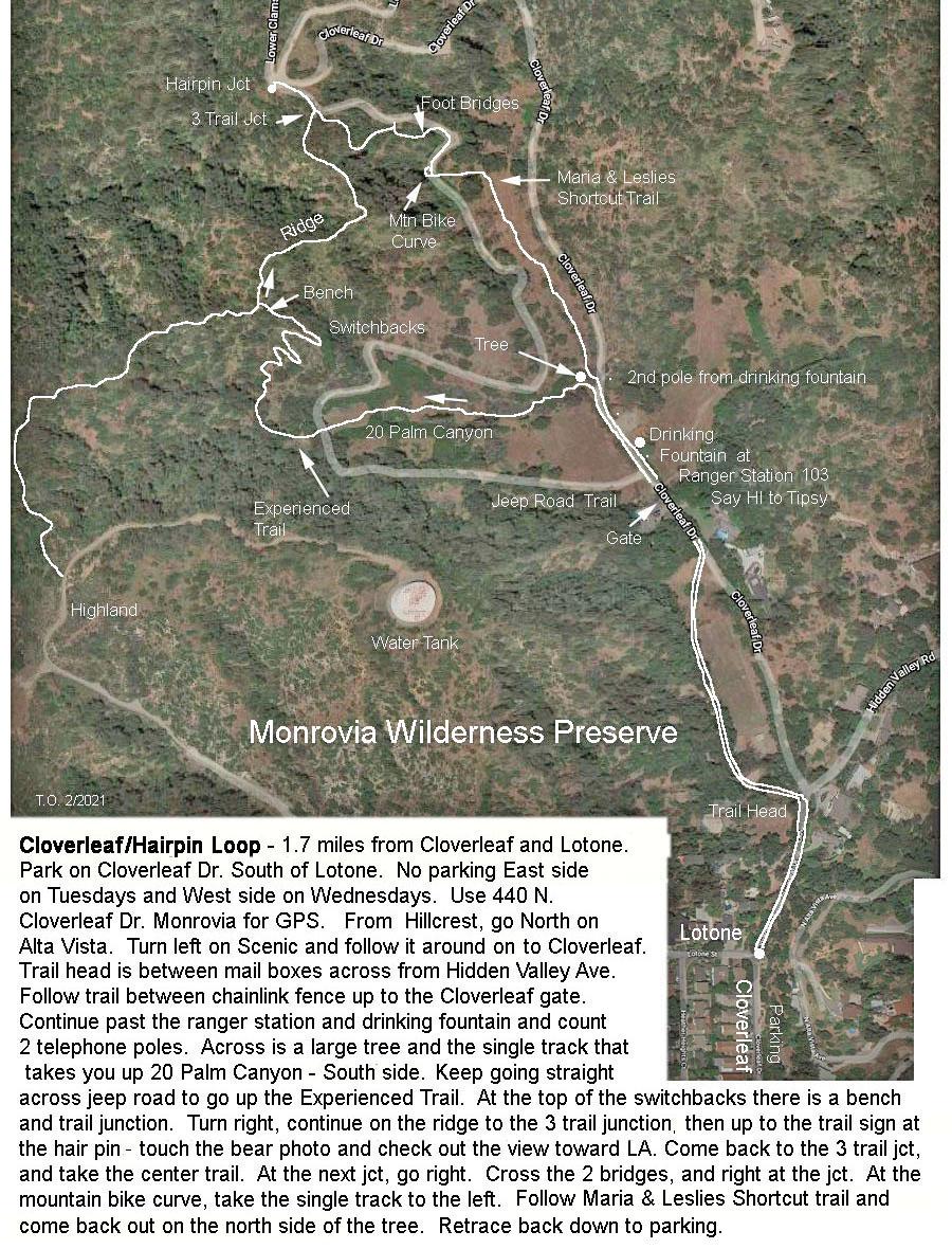 Cloverleaf Trail Map