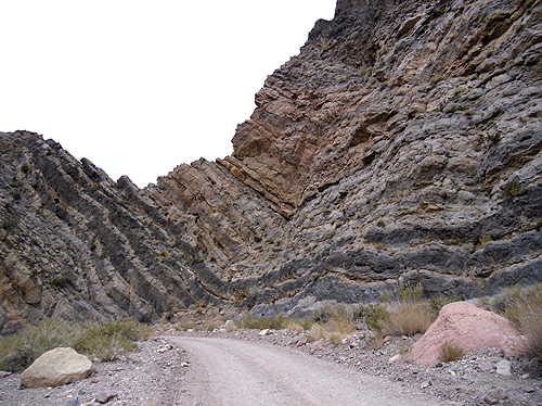 Titus Canyon rock formation