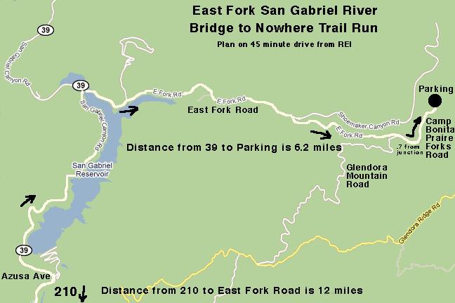 Azusa Canyon Fire Map.East Fork San Gabriel River Trail