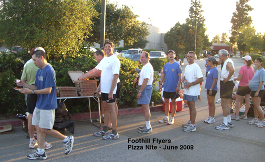 Pizza nite in the REI parking lot