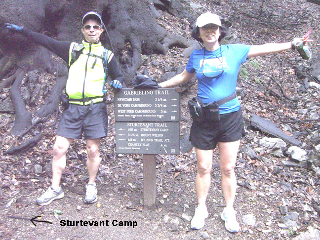 Sturtevant Camp - Newcomb Saddle trail sign