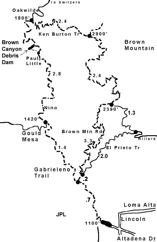 brown mountain loop map
