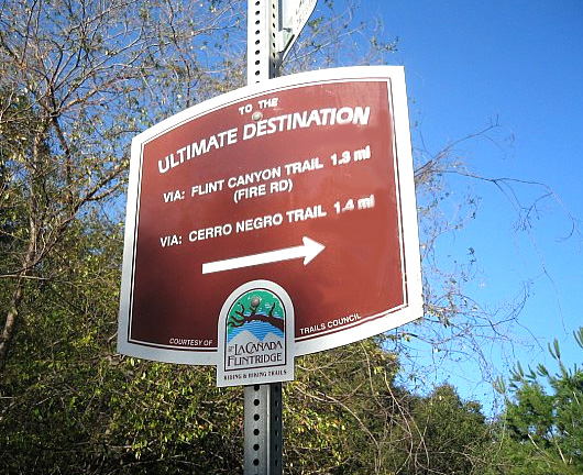 Ultimate Destination trail sign